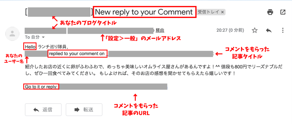 comment email reply プラグイン